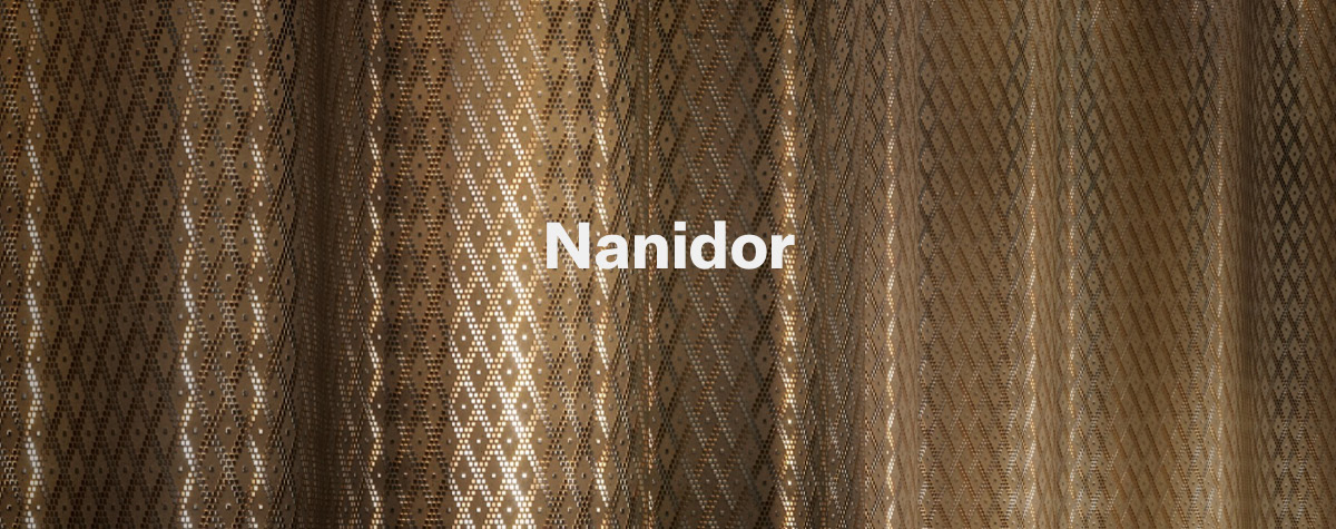 Nanidor flexible metallic tile from C to C Tile in NYC