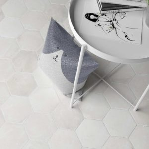 Cottage White Hexagon